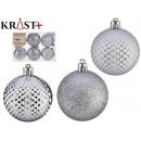 pvc ball 6cm silver set of 6