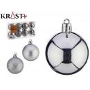 pvc ball 5cm silver set of 8