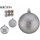 7cm silver embossed pvc ball set of 6