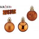 hurtownia Bizuteria & zegarki: kula pvc 3cm pomarańczowa zestaw 12 szt
