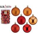 pvc ball 6cm orange and red set of 30