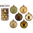 6cm olive green and gold pvc ball set of 30