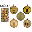 8cm pvc ball olive green and gold set of 30