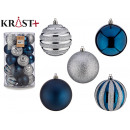 8cm pvc ball petrol blue and silver set of 3