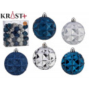7cm pvc ball petrol blue and silver set of 5