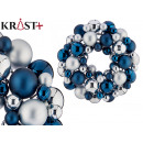 petrol blue and silver pvc ball crown