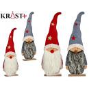 Weihnachtsmann Holz c Filz med, 2 fach sortiert