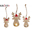 small wooden reindeer c light