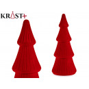 small christmas tree with velvet red