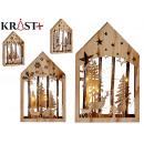 wooden figure Christmas motifs c light assorted