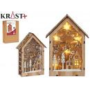 wooden figure Christmas motifs c light le