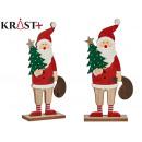 jultomten trä med träd och presentpåse