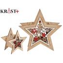 small christmas wood star