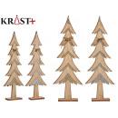 Baum Holz Weihnachten c Glitzer grd sortiert
