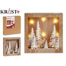 christmas wood figure c light