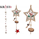christmas wooden garland stars and doll