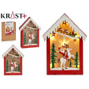 wooden house christmas motifs c light