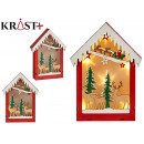 wooden house christmas motifs c light reindeer