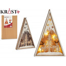 wooden triangle christmas motifs c light