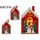 wooden house Christmas motifs c relief