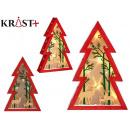 Baum Holz Weihnachten 3d c Licht Rentier