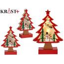 träd trä jul motiv 3d c ljus