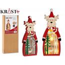figure wood christmas grd 3d c light reindeer