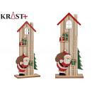 wooden house santa claus