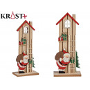 medium wooden house santa claus