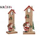 wooden house little santa claus