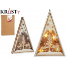 wooden triangle Christmas motifs 40cm