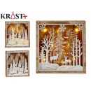 christmas wood scene 2 times assorted