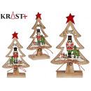 Baum Holz Weihnachten kleinen Nussknacker sortiert