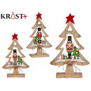 tree wood christmas grd nutcracker assorted