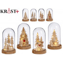 glass dome grd christmas c light, 4 times assorted