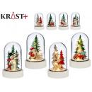 white medium glass dome christmas c light