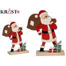 santa claus wood c gift bag
