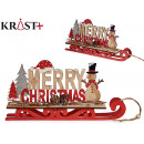 merry christmas wooden sleigh c d doll