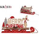 Frohe Weihnachten c Rentier Holzschlitten