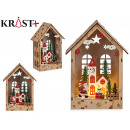 wooden house relief Christmas motifs c