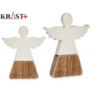 angel wood and ceramic christmas