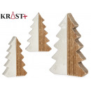 Christmas tree wood and ceramic 5 height