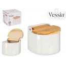 wholesale Household & Kitchen: semi circular white salt shaker with lid