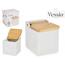square white salt shaker with lid