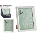 marco de fotos plástico moldura blanco 15x20c