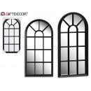 hurtownia Mieszkanie & Dekoracje: czarne lustro okienne 70,5 cm