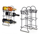 matt black steel bottle rack