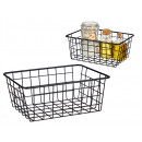 medium matte black steel organizer basket