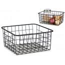 grd matte black steel organizer basket