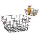 wholesale Organisers & Storage: large black copper handle basket